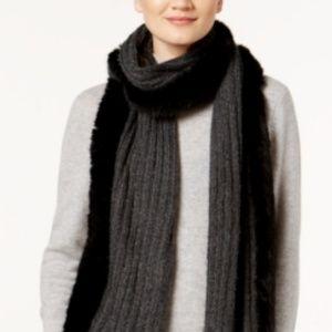 Dkny Accessories - NWT DKNY Faux Fur & Knit Scarf